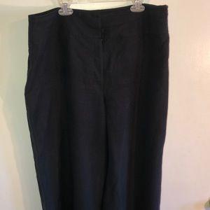 Jones New York navy silk/linen dress lined slacks.